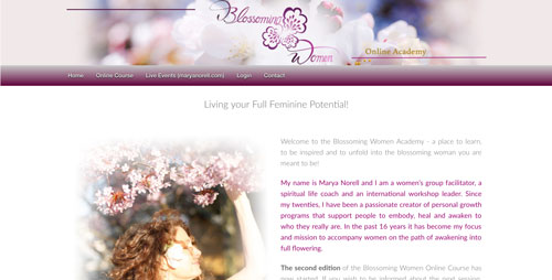 blossoming women